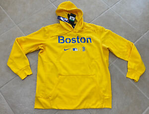 Boston Red Sox Nike 2021 City Connect Marathon Yellow Hoodie Mens XL Sold Out