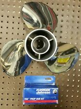 JOHNSON EVINRUDE STAINLESS STEEL PROPELLER 15 X 15 LH PITCH 763963 MARINE BOAT
