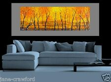 huge Bush Scrub Art oil Painting canvas aboriginal Crawford with COA Australia