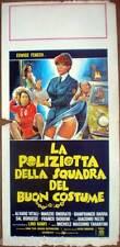 locandina'79 LA POLIZIOTTA DELLA SQUADRA SPECIALE DEL BUON COSTUME-Edwige Fenech