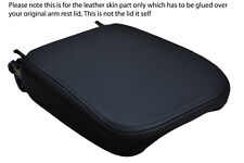 black stitch FITS SAAB 9-5 95 1997-2009 LEATHER ARMREST COVER ONLY
