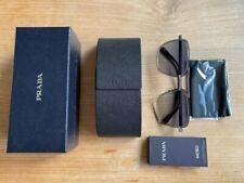 Prada Square-Frame Silver-Tone and Acetate Sunglasses