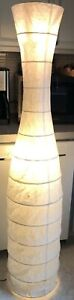 Used IKEA Well Loved FLOOR LAMP LIGHT RICE PAPER SHADE GIVES A SOFT Glow