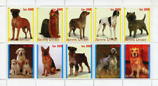Sierra Leone 1998 MNH Dogs German Shepherd Golden Retriever 10v M/S Dog Stamps