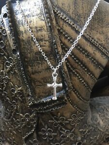 Sterling Silver 925 Necklace with Silver Cross Easter, Communion Christening