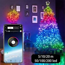 Christmas Tree Decoration USB LED String Light Bluetooth App Control Waterproof