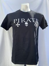 Official Bioworld Assassins Creed IV Black Flag Black T Shirt Size Medium