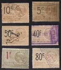 France Revenue Stamps FRSK 615Z Revenue Effets Used Lot 6 #2