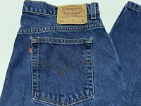 Women's VTG LEVIS 512 High Waist Blue Mom Jeans Denim Made In USA Size 18 Reg M