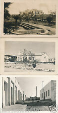 Postcard  photograph Tobruk Lybia Palace church street x 3 postcards 1957 used 8
