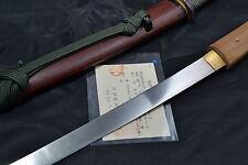 Japanese Samurai real sword Katana Tanto sharp steel blade Koshirae by Sadayoshi