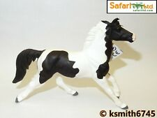 Safari PINTO MUSTANG solid plastic toy farm pet animal black & white horse
