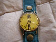 Vintage Mr. Peanut Watch Swiss Made Date