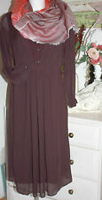 Noa Noa  Kleid Dress September Plum Perfekt Langarm  size:36  Neu