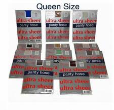 "Lot of 50 Pieces Ultra Sheer Assorted Color Queen Size Pantyhose-  Fits 54"" Hips"