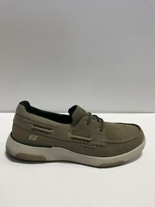 Skechers Garmo Mens Boat Shoe Taupe US11 M