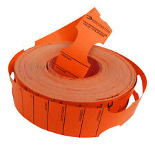 Metal Detectable Keyhole Tags Orange 50x279mm Roll 500