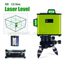 12 Lines High Precision Green 3D Laser Level Self Leveling 360° Rotary