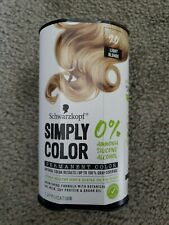 Schwarzkopf Simply Color Permanent Hair Color 9.0 Light Blonde, NEW & SEALED