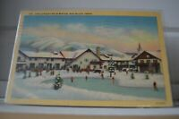 1941 Challenger Inn In Winter Sun Valley Idaho Postcard