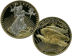 1933 GOLD DOUBLE EAGLE PLATINUM-ACCENTED COIN PROOF LUCKY MONEY VALUE $99.95