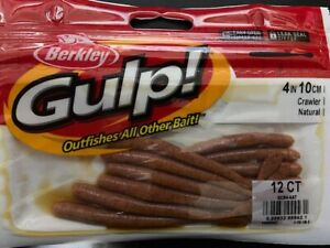 "Berkley Gulp, Crawler, Natural, 4"", 12 ct."