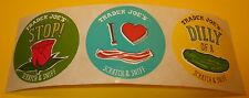 "TRADER JOES Scratch & Sniff Sticker Lot~BACON~ROSE~DiLL PiCKLE~1.5""~Rare~HTF~.99"