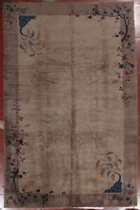 antique art-deco chinese carpet 9.03x14.5
