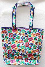 """Vera Bradley """"Tote"""" Bag in Cuban Stamps.  Handbag Tote Shoulder bag.  NWT"""