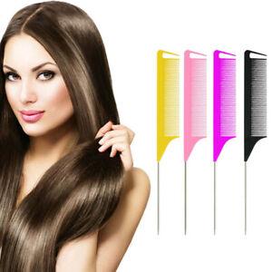 Long Rat Tail Comb Bone Tip Sharp End Braid Comb Salon Divider Parting Hair Comb