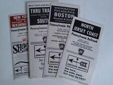 Pennsylvania Railroad (PRR): Time Table. 4 Ausgaben aus 1966