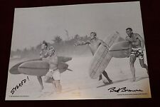 Bud Browne Autographed Gun Ho 1963 Surf Movie Pig Log 12x14in. Surfing Poster