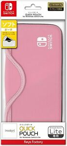 Nintendo Licensed Products QUICK POUCH for Nintendo Switch Lite Pale Pink