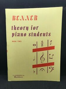 BENNER Theory for Piano Students Book 2 #2522