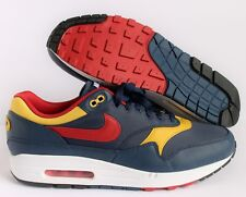 "NIKE AIR MAX 1 PREMIUM QS ""SNOW BEACH"" NAVY BLUE-RED-SULFUR SZ 9.5 [875844-403]"
