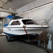 Kajütboot mit Trailer. Shetland, Family 4, Außenbordmotor Suzuki DF 60 ATL,60 PS