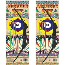 2 x Children's Plastic Archery Set Junior Bow & And Sucker Arrows Toy B52 380