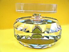 MURANO GLASS PERFUME DECANTER DAUBER Cut Facited Bottle Cristalleria d'arte NIB