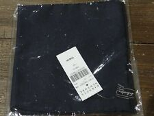 NWT Salvatore Ferragamo Solid Navy Blue Silk Pocket Square $140 Italy