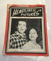 "Rare 1946 Vintage ""HEADLINES & PICTURES"" Negro Magazine 51 Pages"