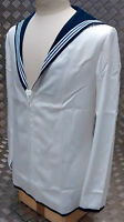 Genuine British Royal Navy Class 2 Sailors White Middy Top / Jumper - All Sizes