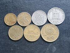 Greece  1 to 100 drachma coins