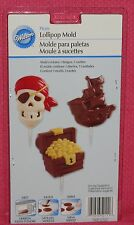 Pirate Chocolate Candy Lollipop Mold,Wilton,clear Plastic,2115-2111,