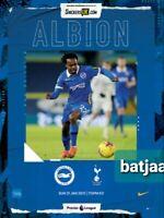 Brighton -Scored 1:0 vs Tottenham Premier League Programme 31/1/2021 BUY NOW
