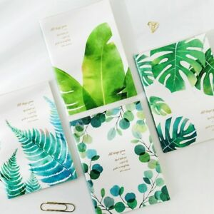 """""""Green Leaves ver.2"""" Pack of 4 Exercise Book Lined Big Study Business Notebook"""