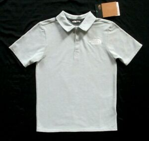 THE NORTH FACE Boys Exploration Polo Shirt Light GRAY Size Large L 14 16  NWT