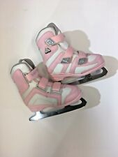 Girl's Softec By Jackson Tri Grip Pink & White Figure Ice Skates 10J Size 10