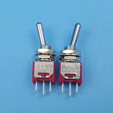 2Pcs SH TS-4 3Pin ON-ON Maintained 2Position SPDT 5mm Micro Toggle Switch