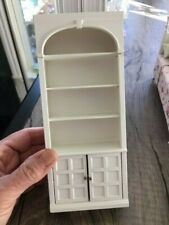 DOLLHOUSE MINIATURE COLLECTIBLE White Shabby Chic Farmhouse Bookcase Display