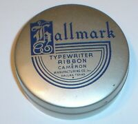 Vintage Hallmark Typewriter Ribbon Advertising Tin for Remington Cameron Mfg. Co